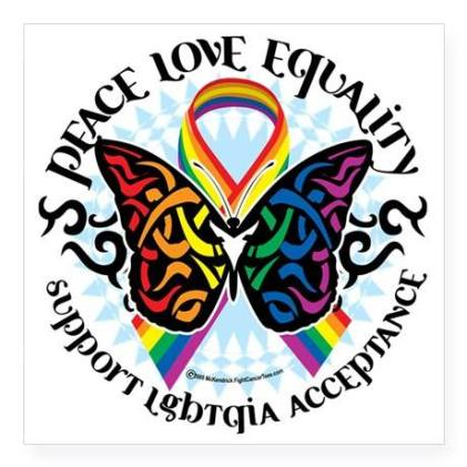 LGBTQIA + Acceptance (This image was borrowed from: McKendrick 2009; FightCancerTees.com)