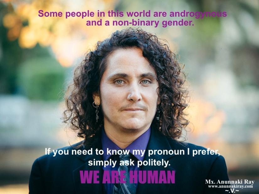 We are human: pronouns