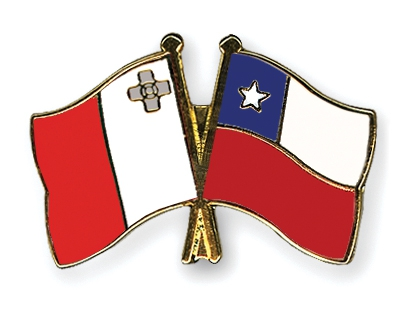 "The two flags of the first two countries, Malta and Chile, who created Laws to end unnecessary ""Normalizing"" genital surgeries on intersex infants and children."