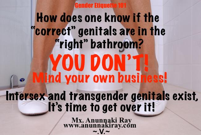 Correct Genitals in the bathroom