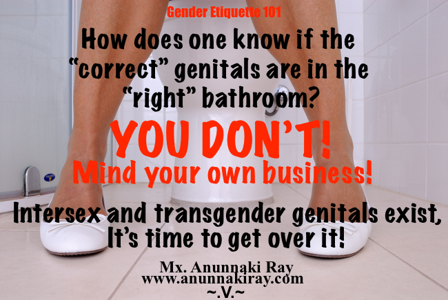 Correct Genitals in the bathroom