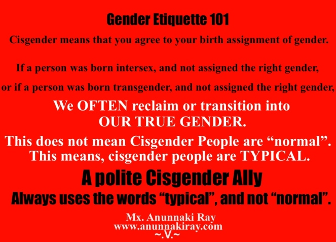 Gender Etiquette 101 Cisgender