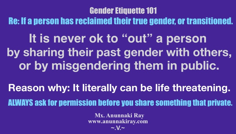 Gender Etiquette 101 Misgendering