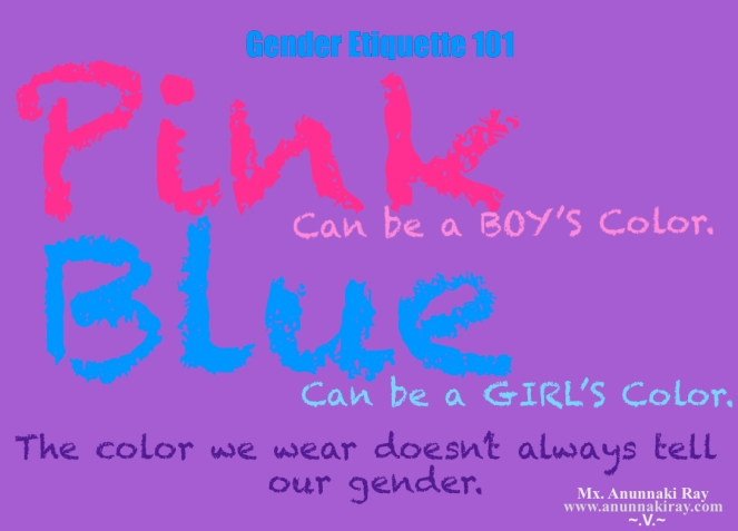Gender Etiquette 101 PINK AND BLUE
