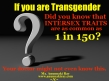 If you are transgender 1 in 150