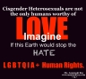 Cisgender Heterosexuals Stop the Hate