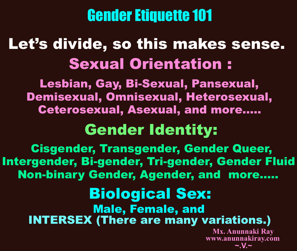 Gender Etiquette 101 Let's Divide, So This Makes More Sense