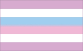 Bi-gender Pride Flag Note: Not all intersex people are bi-gender. An intersex person can have any gender identity. Intersex is about anatomical sex, not gender.