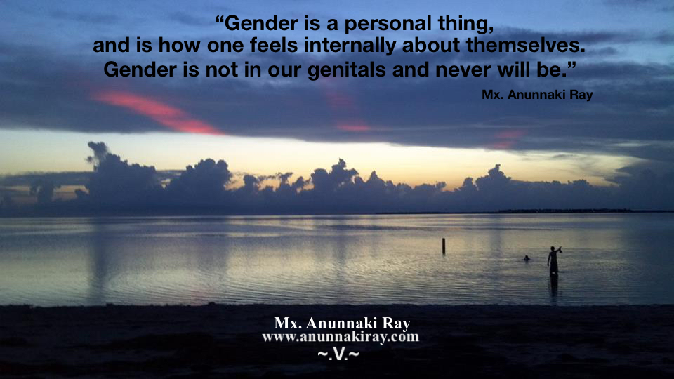 Gender is Not in our Genitals