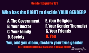 Who has the right to decide your gender?