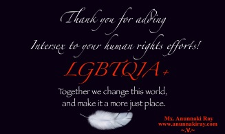 Thank you for adding interex to your human rights efforts LGBTQIA+