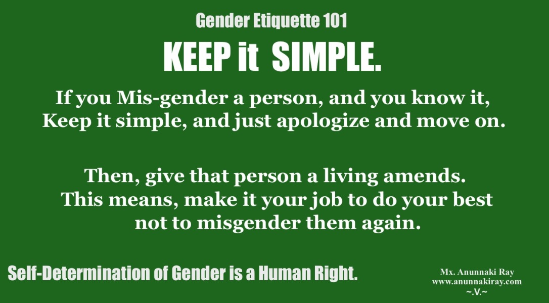 Gender Etiquette 101 Misgender