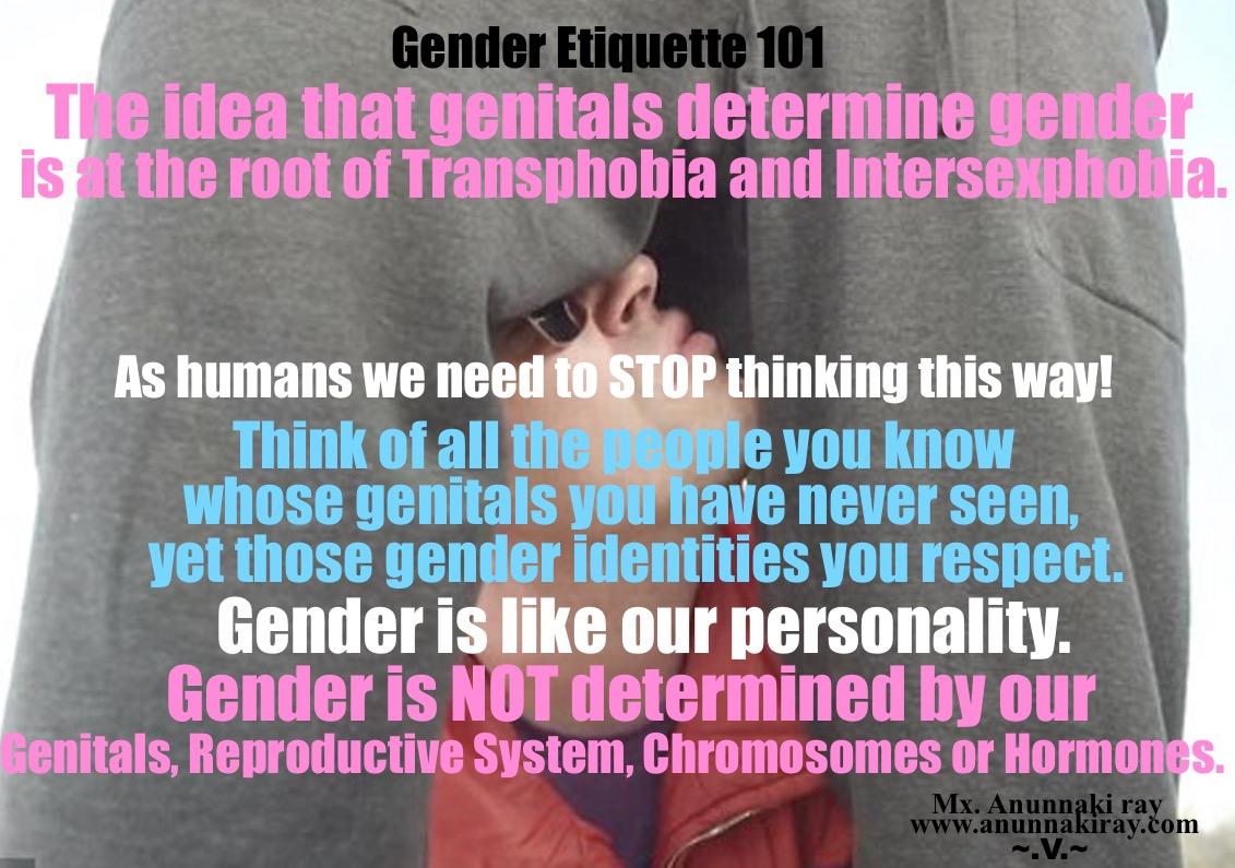 Gender Etiquette 101 Transphobia and Intersexphobia