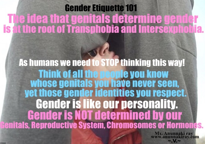 Gender Etiquette 101 Transphobia and Intersexphobia
