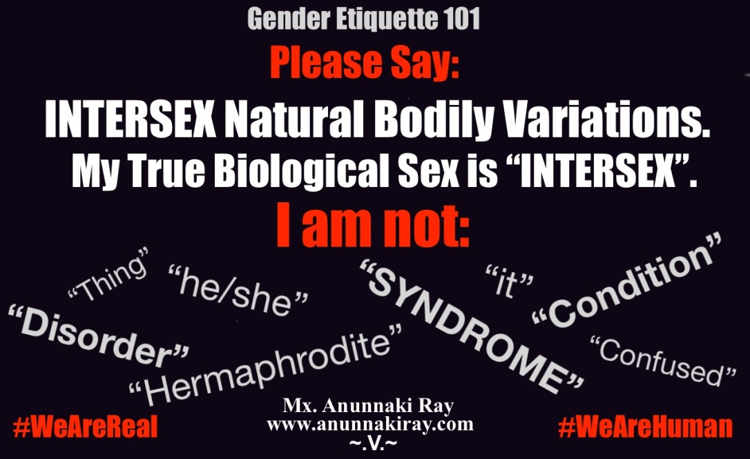 Gender Etiquette 101 Please Say Intersex Natural Bodily Varations