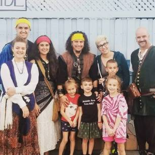 My family with Stephani Lohman's Family and Rosie. November 2018.