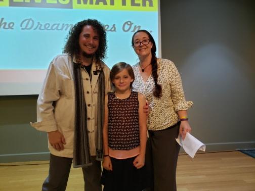 Me with Joey and Tiescha Thomasson.