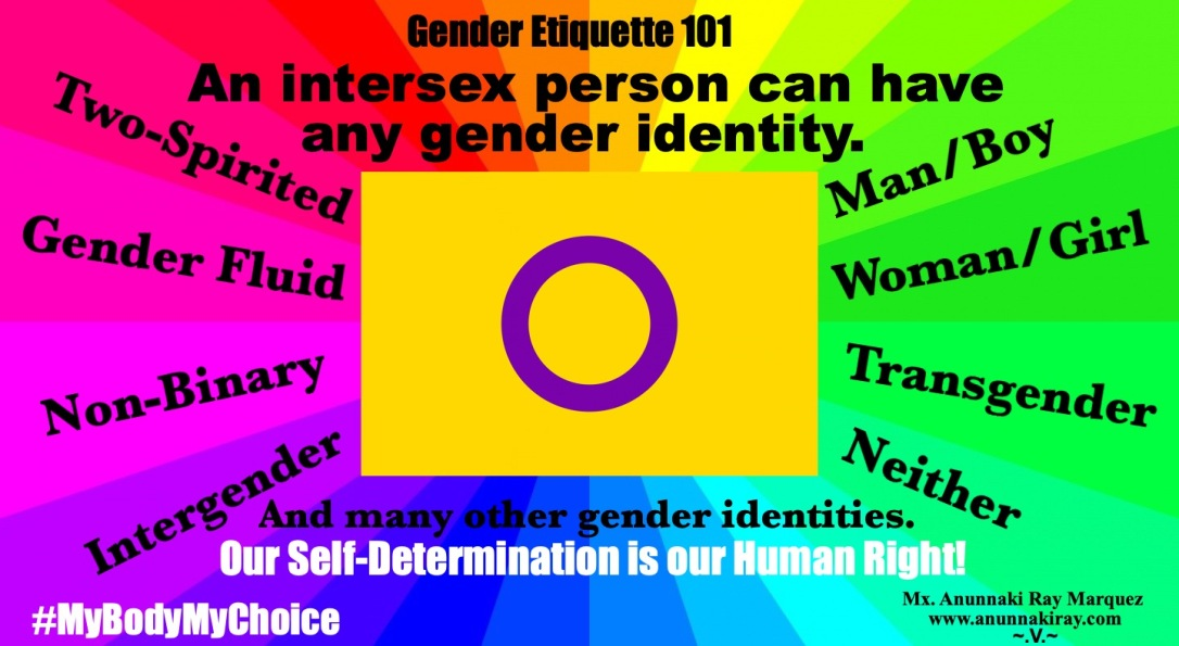 An Intersex Person Can have any gender identity.