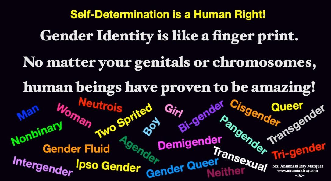 Gender Identity is a Finger Print
