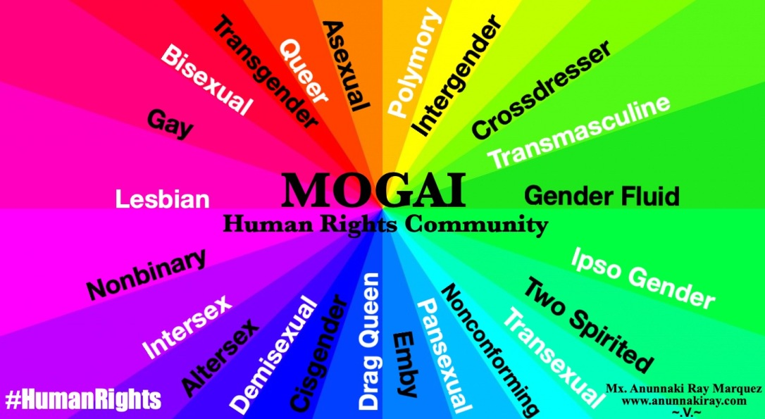 Rainbow LGBTQIA+++ MOGAI Human Rights Community