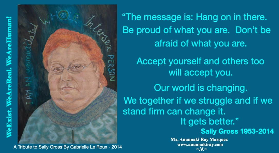 Sally Gross Tribute Painting and Quote