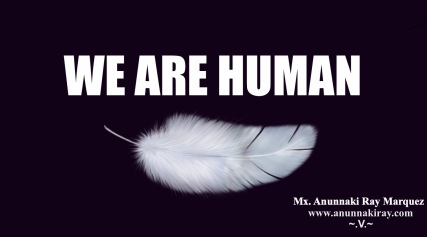 We Are Human Feather