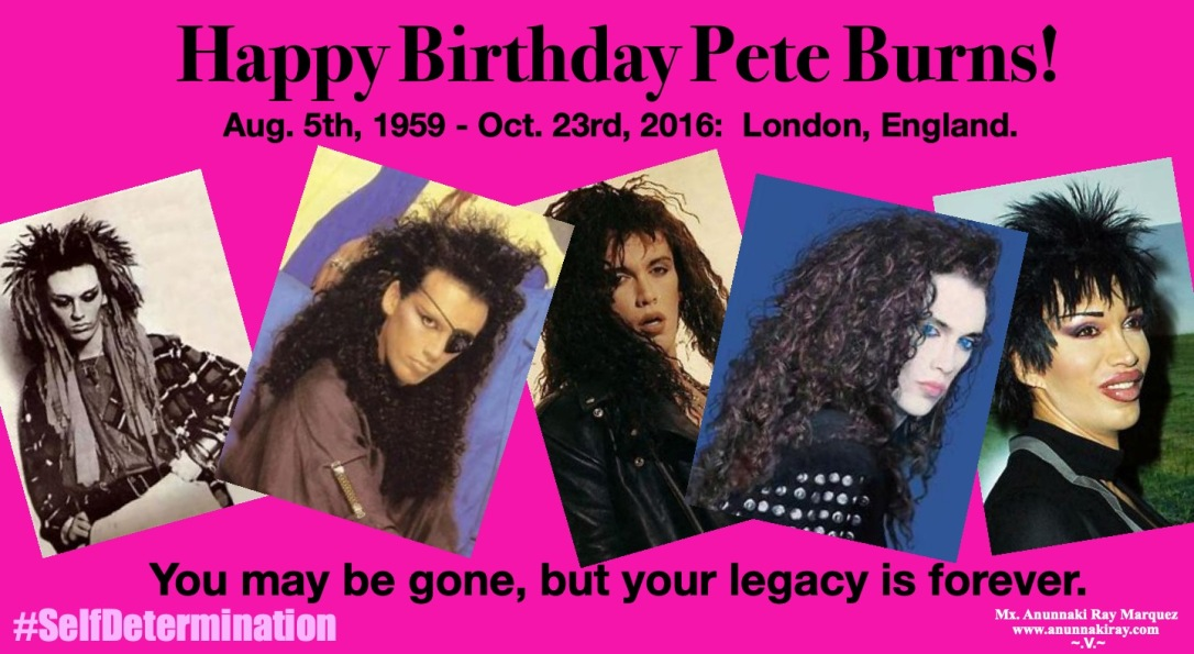 Pete Burn's Birthday August 5th Legacy