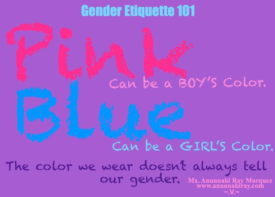 Pink and Blue Gender Etiquette 101