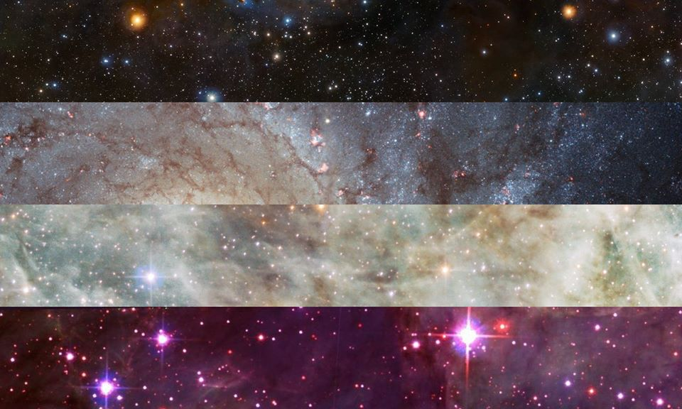 Asexual PRIDE Flag | Pride Space Flags by Laurie Raye