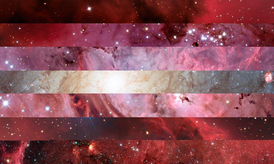 Lesbian PRIDE Flag | Pride Space Flags by Laurie Raye