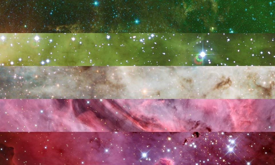 Abrosexual | Pride Space Flags by Laurie Raye