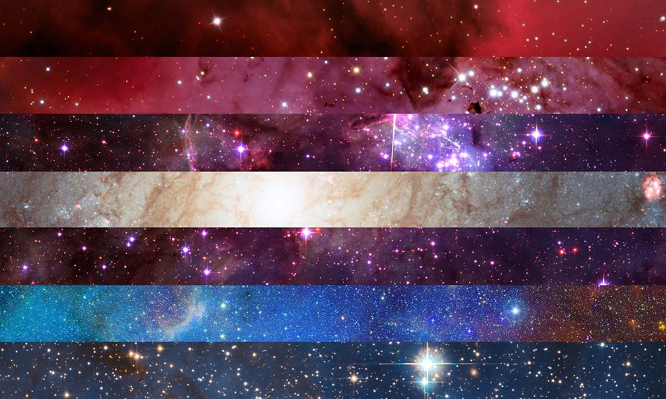 Nebularomantic pride flag | Pride Space Flags by Laurie Raye