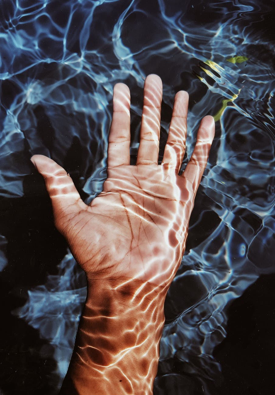 photo of person s hand submerged in water | Photo by Andre Moura on Pexels.com