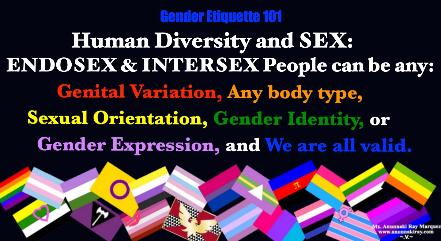 Human Diversity | Endosex and Intersex | We are all valid.